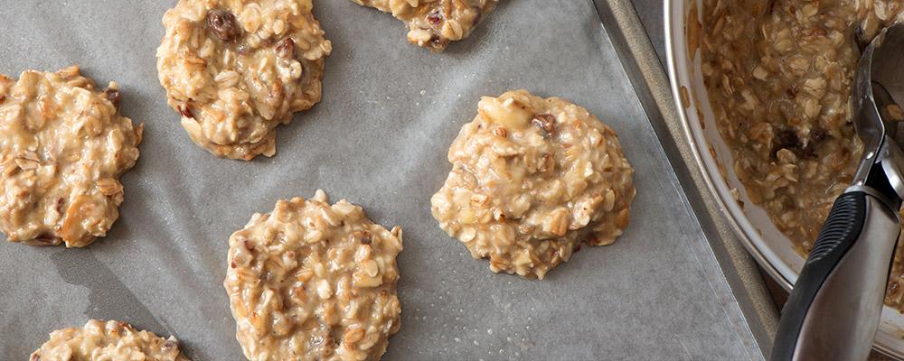 Cookie Healthy - Bananes et flocons d'avoine - ©Marta Maziar